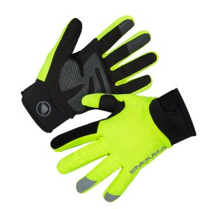 Endura Strike Waterproof Cycling Gloves - Hi-Viz Yellow