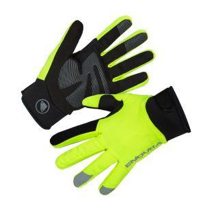 Endura Women's Strike Waterproof Cycle Gloves - Hi-Viz Yellow