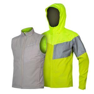 Endura Urban Luminite 3 in 1 Cycle Jacket II - Hi-Viz Yellow