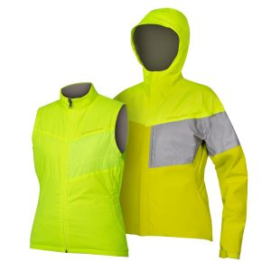 Endura Women's Urban Luminite 3 in 1 Jacket II - Hi-Viz Yellow