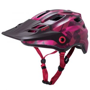 Kali Maya 3.0 Enduro Cycle Helmet - Camo Mat Red/Burgundy